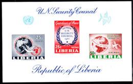 LIBERIA (1961) Liberia's Membership In UN Security Council. Imperforate M/S Of 3. Mentioned In Scott - Liberia