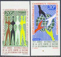 CAMEROUN (1971) Anti-racism. Set Of 2 Imperforates. Scott Nos 519-20, Yvert Nos 499-500. - Cameroon (1960-...)