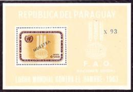 PARAGUAY (1963) FAO Emblem. S/S Overprinted MUESTRA. Scott No 766a. - Paraguay
