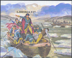 LIBERIA (1981) Washington Crossing Delaware River. Imperforate S/S. Scott No 911, Yvert No BF96. - Liberia