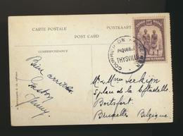 Carte Envoyé Par Paquebot Thysville COB 174 - Belgian Congo