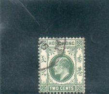 HONG KONG 1904-9 O - Hong Kong (...-1997)
