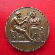 Médaille Bronze - Prix De Dessin Industriel De La Ville De Paris 1885 - 41mm 34,64g - Firma's