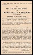 Roeselare, 1933, Leonia Lefevere, Stols - Imágenes Religiosas