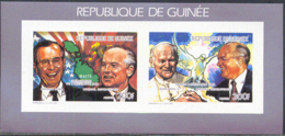 GUINEA (1990) World Leaders. Imperforate S/S. Scott Nos 1136,42. Yvert Nos 901,903. - Guinea (1958-...)