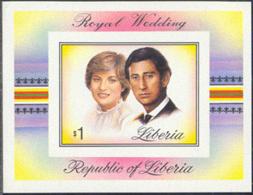 LIBERIA (1981) Royal Wedding. Imperforate S/S. Scott No 900, Yvert No BF97. - Liberia