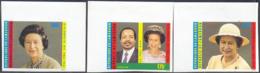 CAMEROUN (1986) Queen Elizabeth. Set Of 3 Imperforates. Scott Nos 815-7, Yvert Nos 794-6. - Cameroon (1960-...)