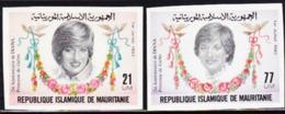 MAURITANIA (1982) Princess Diana. Set Of 2 Imperforates.  Scott Nos 515-6, Yvert Nos 507-8. - Mauritania (1960-...)