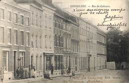 Gosselies - Rue Du Calvaire (animée, Edit. Miaux 1911) - Charleroi
