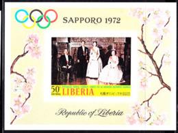 LIBERIA (1971) Royal Family. Imperforate S/S. Scott No C192, Yvert No BF57. Sapporo Olympics. - Liberia