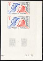 WALLIS & FUTUNA (1979) People. Cross Of Lorraine. Imperforate Pair. Anniversary Of World War II Callup. Scott No C94 - Ongetande, Proeven & Plaatfouten