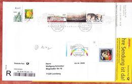 Einschreiben Reco + Abholkarte, Block Knabenchoere U.a., Bonn Nach Leonberg 2014 (94503) - BRD