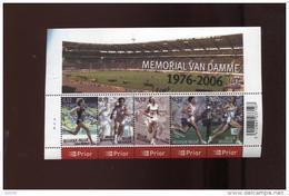 Belgie Blok Feuillet BL129 Athletics Sports Memorial Van Damme PLAATNUMMER 1  Onder Postprijs Sous Faciale !!! - Blocks & Sheetlets 1962-....