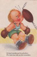 2850133Ik Houd Voordurend In Gedachten: Wie Bokst Kan óók Een Bal Verwachten. (vouwen Zie Achterkant) - Humorous Cards