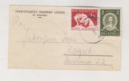 CROATIA WW II 1944 Concentration Camp STARA GRADISKA Stationery - Croatia