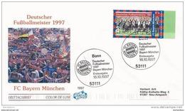 """78 - 48 - Enveloppe D'Allemagne Avec Timbre Et Oblit Spéciale """"FC Bayern Munich Champion D'Allemagne 1997"""" - Fútbol"""