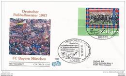"""78 - 49 - Enveloppe D'Allemagne Avec Timbre Et Oblit Spéciale """"FC Bayern Munich Champion D'Allemagne 1997"""" - Fútbol"""