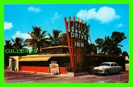 FT. LAUDERDALE, FL - PIZIO'S DRIVE INN - ANIMATED OLD CAR - DEXTER PRESS INC - - Fort Lauderdale