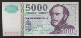 HUNGARY HONGRIE UNGARN  5000 FORINT - 2006 Edition UNC BANKNOTE - Széchenyi CASTLE Nagycenk - Hongarije