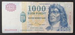 HUNGARY HONGRIE UNGARN 1000 / 1.000 FORINT Milennium 2000 Edition BANKNOTE / King Corvin Matthias FOUNTAIN Visegrád - Hungary