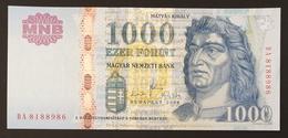 HUNGARY HONGRIE UNGARN 1000 / 1.000 FORINT - 2008 Edition UNC BANKNOTE / King Corvin Matthias FOUNTAIN Visegrád - Hungary