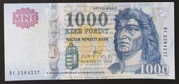 HUNGARY HONGRIE UNGARN 1000 / 1.000 FORINT - 2009 Edition UNC BANKNOTE / King Corvin Matthias FOUNTAIN Visegrád - Hungary