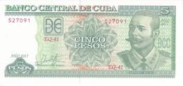 BILLETE DE CUBA DE 5 PESOS DEL AÑO 2017 DE ANTONIO MACEO SIN CIRCULAR - UNCIRCULATED  (BANKNOTE) - Cuba