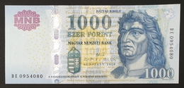 HUNGARY HONGRIE UNGARN 1000 / 1.000 FORINT - 2010 Edition UNC BANKNOTE / King Corvin Matthias FOUNTAIN Visegrád - Hungary
