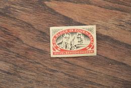 Aalst Luciferetiket Zuivelprodukten De Block 1950'/60' Zeldzaam - Matchbox Labels