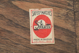 Aalst Luciferetiket Safety Match Sparta  1950'/60' - Zündholzschachteletiketten