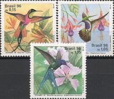 BRAZIL - COMPLETE SET HUMMINGBIRDS, ESPAMER'96 SEVILLA/SPAIN 1996 - MNH - Colibris
