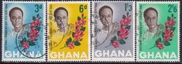 GHANA 1964 SG 343-46a Compl.set+m/s Used Founder's Day - Ghana (1957-...)