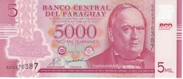 BILLETE DE PARAGUAY DE 5000 GUARANIES DEL AÑO 2011 SIN CIRCULAR - UNCIRCULATED (TREN-TRAIN-ZUG) (BANK NOTE) - Paraguay