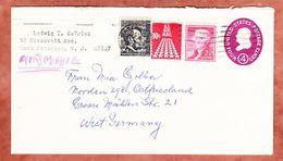 Luftpost, Ganzsache U Jefferson? + ZF, East Paterson Nach Norden 1968 (94520) - 1961-80