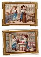2 Chromos Parfumerie Oriza Legrand - Trade Cards