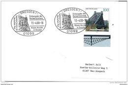 78 - 101 - Enveloppe  Allemande Avec Timbre Et Oblit Spéciale Thème Pont -  Dresden 2000 - Bridges