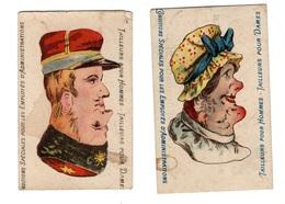 2 Chromos Systeme, Deux Têtes - Trade Cards