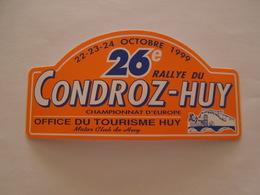 Automobile Rallye  Du Condroz - Huy 1999 Stickers Souvenir - Autocollant - Automobilismo - F1