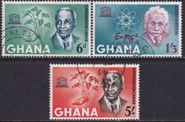 GHANA 1964 SG 354-56a Compl.set+m/s Used UNESCO Week - Ghana (1957-...)