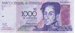 BILLETE DE VENEZUELA DE 1000 BOLIVARES DEL AÑO 1998 CALIDAD EBC (XF)  (BANKNOTE) - Venezuela