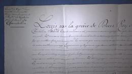Nomination Capitaine Chandelux - Régiment De Grosbois - 1702 - Authentique - Documenten