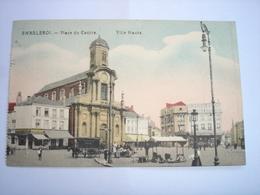 CPA - CHARLEROI - PLACE DU CENTRE - VILLE HAUTE ( MARCHE ET ATTELAGE A CHEVAL ) - Charleroi