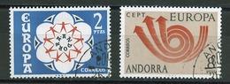 Andorre Espagnol - Andorra 1973 Y&T N°77 à 78 - Michel N°84 à 85 (o) - EUROPA - Andorra Española