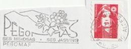 France. Fragment De Lettre Avec Flamme Postale 1996. Pégomas. Ses Mimosas. Ses Jasmins. - Mechanische Stempels (reclame)