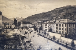 Cartolina - Aosta - Piazza Della Repubblica E Caserma Testafochi - 1956 - Italia