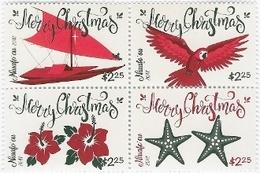 Niuafo'ou 2017, Christmas, Parrot, Flowers, 4val - Tonga (1970-...)