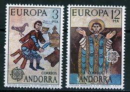 Andorre Espagnol - Andorra 1975 Y&T N°89 à 90 - Michel N°96 à 97 *** - EUROPA - Andorra Española