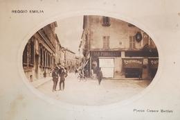 Cartolina - Reggio Emilia - Piazza Cesare Battisti - 1900 Ca. - Reggio Emilia