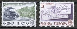 Andorre Espagnol - Andorra 1979 Y&T N°116 à 117 - Michel N°123 à 124 *** - EUROPA - Andorra Española