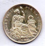 PERU, 1 Sol, Silver, Year 1895, KM #196.26 - Peru